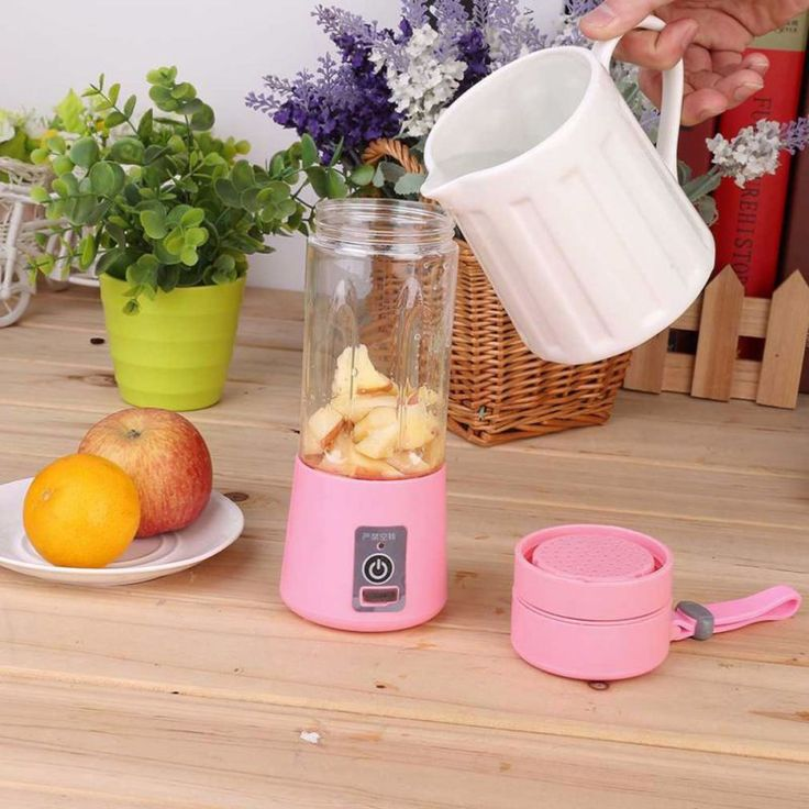 380ml Electric Fruit Juicer Machine Mini Portable USB Rechargeable Smoothie Maker Blender Shake And Take Juice Slow Juicer #Affiliate