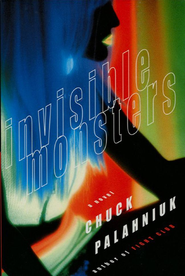 """Front cover of first edition of """"Invisible Monsters"""" by Chuck Palahniuk, a paperback original published in the U.S. by W. W. Norton and Company in 1999. Photograph by Tommy Ewasko/The Image Bank. Jacket design by Archie Ferguson.   Learn more about Tommy Ewasko, """"The Black Lighter,"""" at http://ewasko.com"""