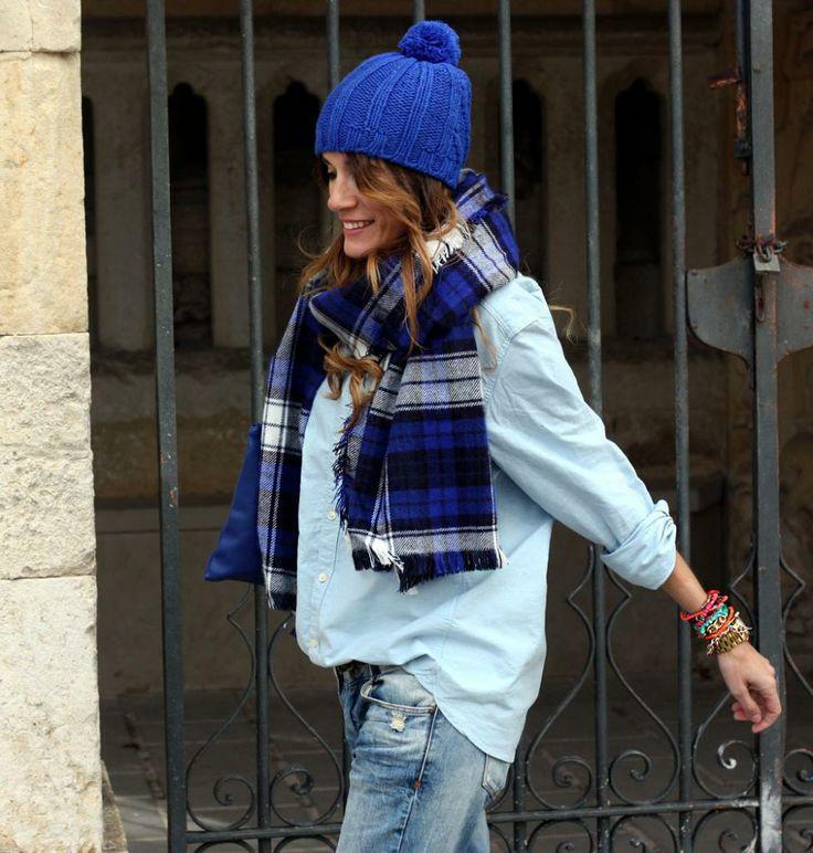 brilliant blue. Spain. #rebelattitude: Baby Blue, Babies, Art Symphony, Winter Style, Street Style, Color Stories, Beanie, Winter Fashion