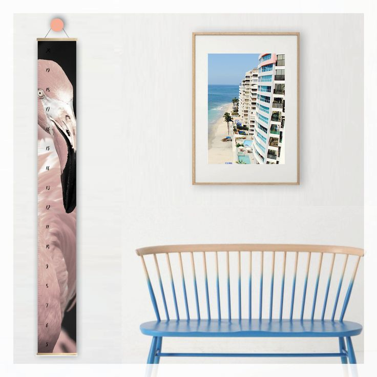flamingo height growth chart, scandi, modern, photography, scandinavian, beach, boho, canvas, wall decor, home decor, interior styling, home styling, kids bedroom, kids room