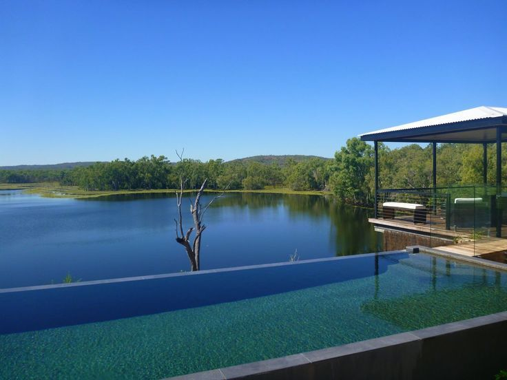 The infinity pool at Crystalbrook Lodge, a luxury 10 guest only lodge hidden in outback Queensland!
