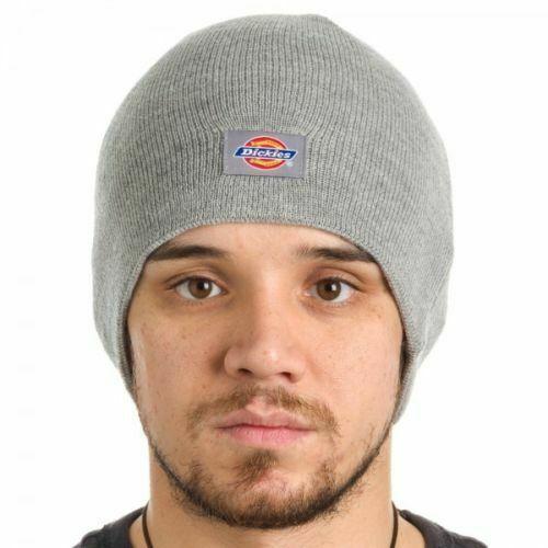 3e3a2e657f8d0 Dickies Core Light Gray Beanie Hat Core Knit Cuff - NWT Warm Winter Grey  Basic