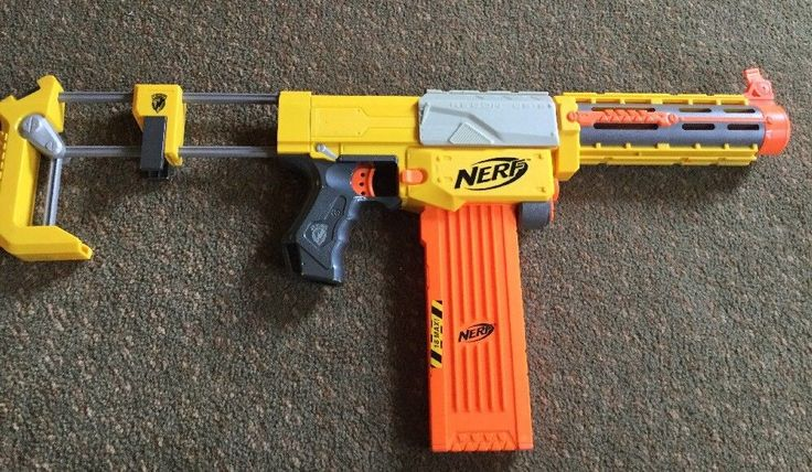 Nerf N-Strike Recon CS-6 Dart Gun Extended 18 Dart Clip Nearly Complete Tested and works As is some wear from use otherwise excellent condition Please see all photos Thanks and please take a look at our other toys | eBay!