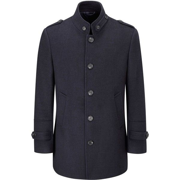 Skopes Chelsea Coat (9.090 RUB) ❤ liked on Polyvore featuring men's fashion, men's clothing, men's outerwear, men's coats, sale men coats and jackets, mens overcoat, mens over coat, mens coats and mens military coat