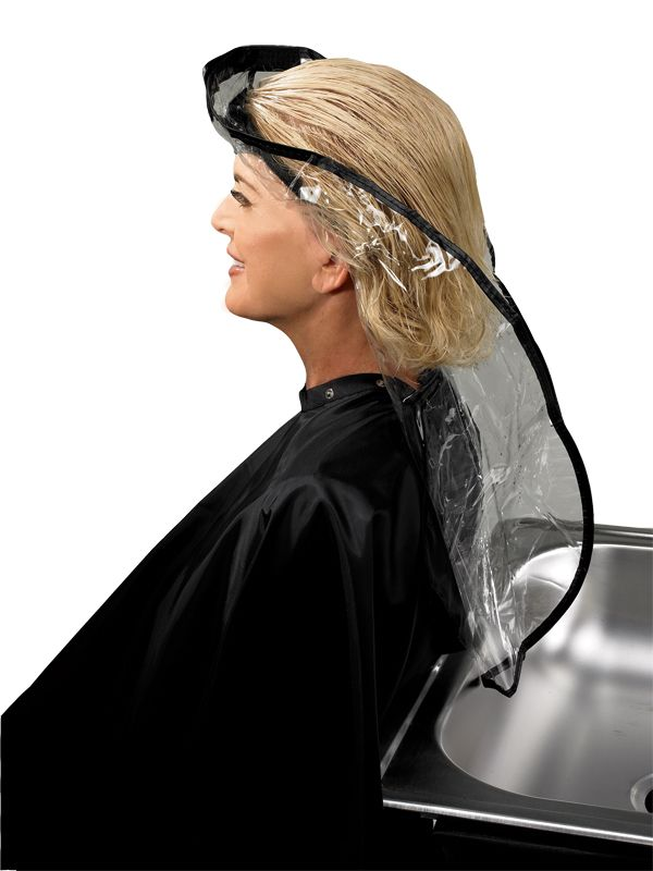 Hair Funnel (#815)  *Vinyl funnel  *Designed for washing hair in an upright position  *Comfortable alternative for elderly and handicapped  *Velcro closure