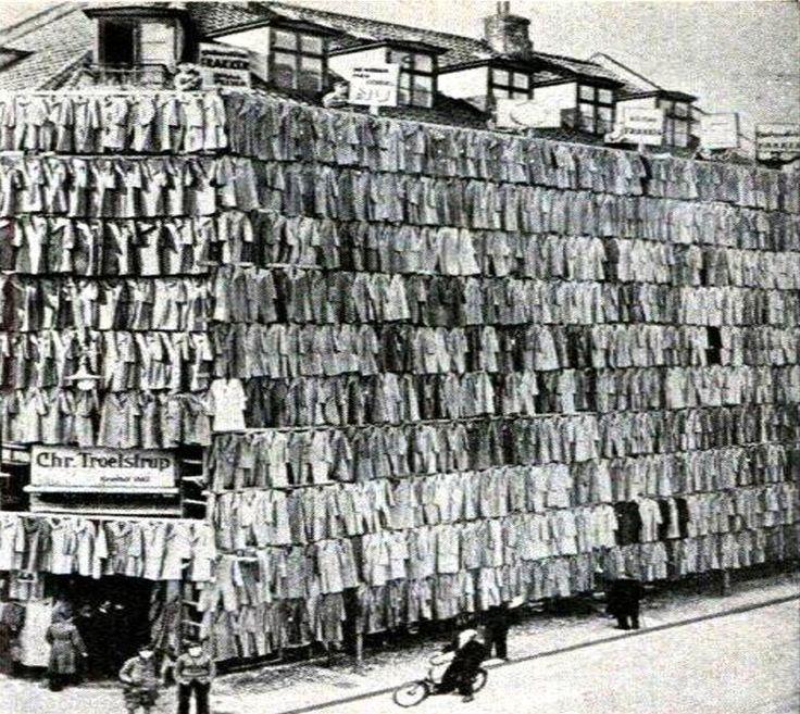 1936. Copenhague. Venta de abrigos