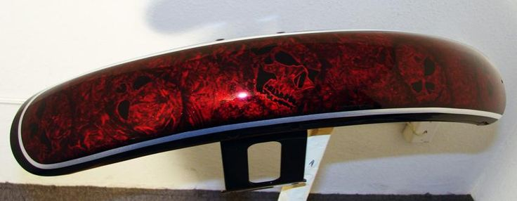 Pearl Black Base Marbleized Candy Apple Red And