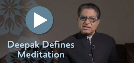 """Meditation Tips"" from Deepak Chopra. Click the pic for some tips from Deepak, including What is Meditation, Where to Meditate, When to Meditate, Body Position, Thoughts, Breath, Meditation Length, The Five Things That Can Happen During Meditation, and Deepak's Meditation Resource and Video Libraries."