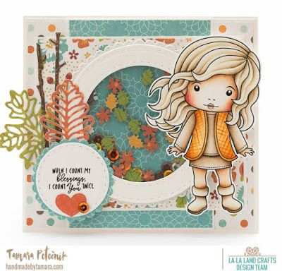 From our Design Team! Card by Tamara for inspiration on La-La Land Crafts blog. Click on the photo for product list and coloring details
