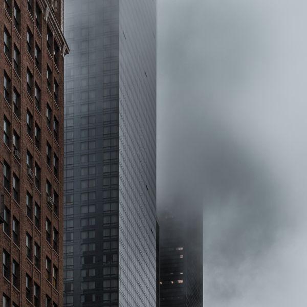 One WTC under the fog by Juan Cristobal Cobo, via Behance