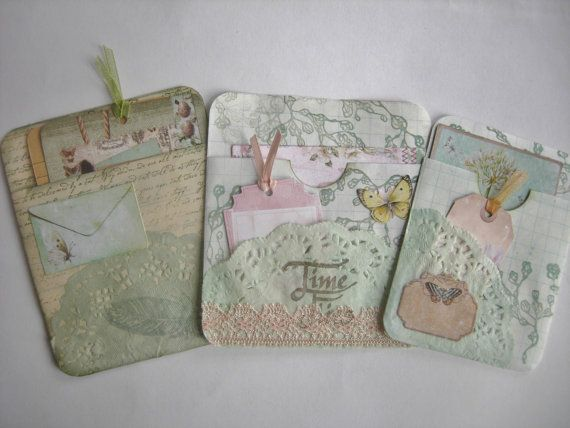 Junk Journal Pockets by CraftRain on Etsy