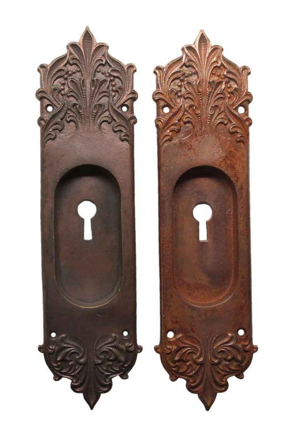 French Copper Plated Brass Pocket Door Plates In 2020 Pocket