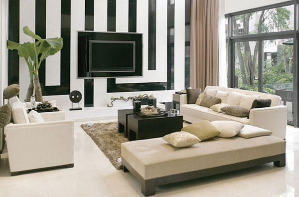 Чёрно-белые гостиные: харизма стиля и элегантность вечности