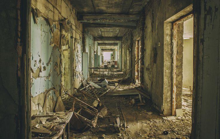 derelict hospital corridor - #abandoned #urbex #decay #photography #image #mrnorue #derelict #neglect