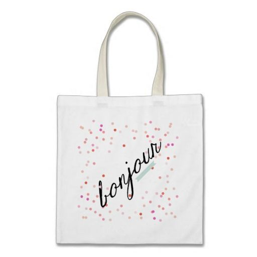 Bonjour Tote Bag with confetti by Rive Gauche Craft