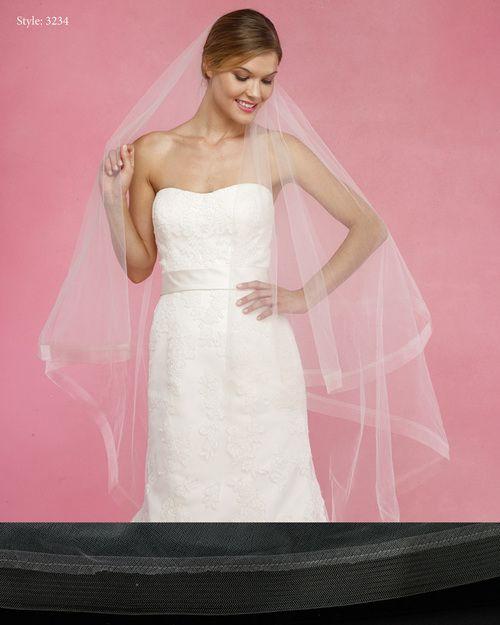 Marionat Bridal Veils 3234- The Bridal Veil Company -Horse Hair Edge is  & perfect wedding veil ! Order your Marionat Wedding Veil  . Best Marionat Prices online