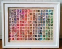 Postage Stamp Art.