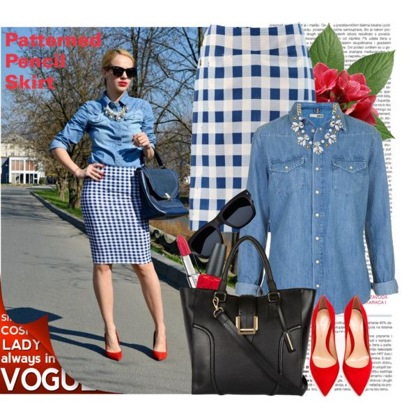 Patterned Pencil Skirt 6, created by nadia-varbeva on Polyvore