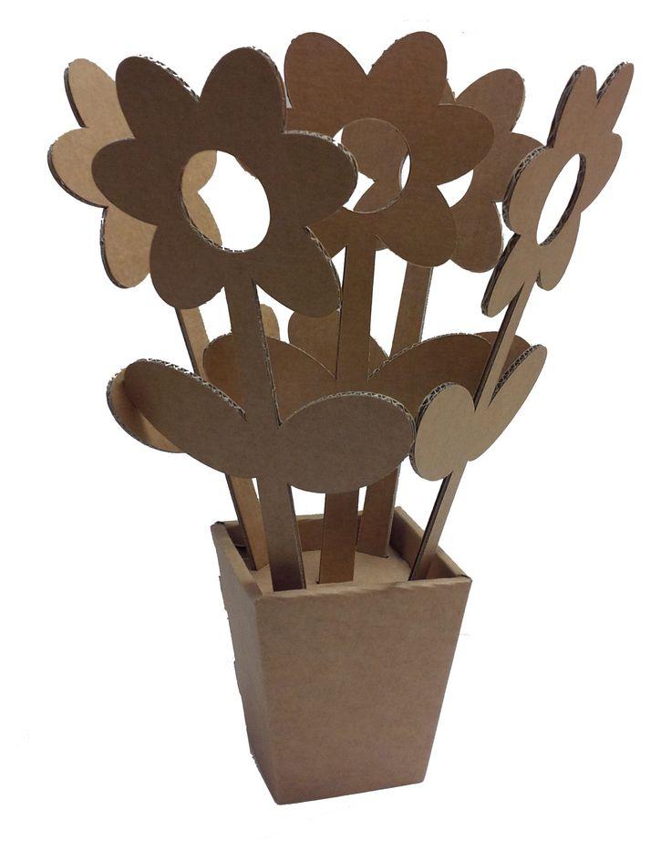 Franci Eco Fiore in cartone rinforzato AVANA, completa di istruzione di montaggio.  Only by www.maketank.it #enjoycartboard