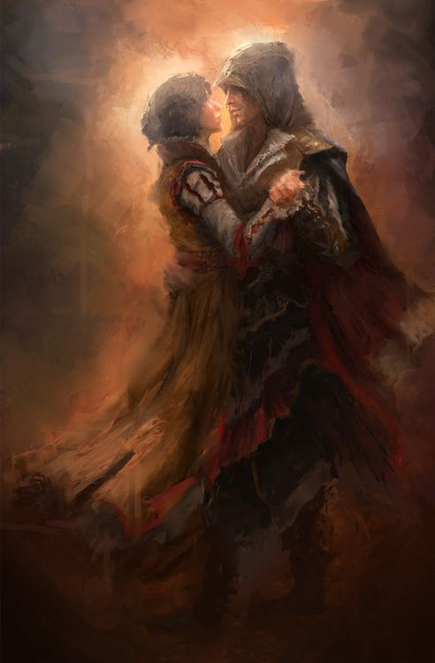 Ezio & Cristina... It pains me to see this, becaus they were a lovely couple and the sure as hell would have married if the whole assassin thing didn't interfere. I feel sad for both of them.
