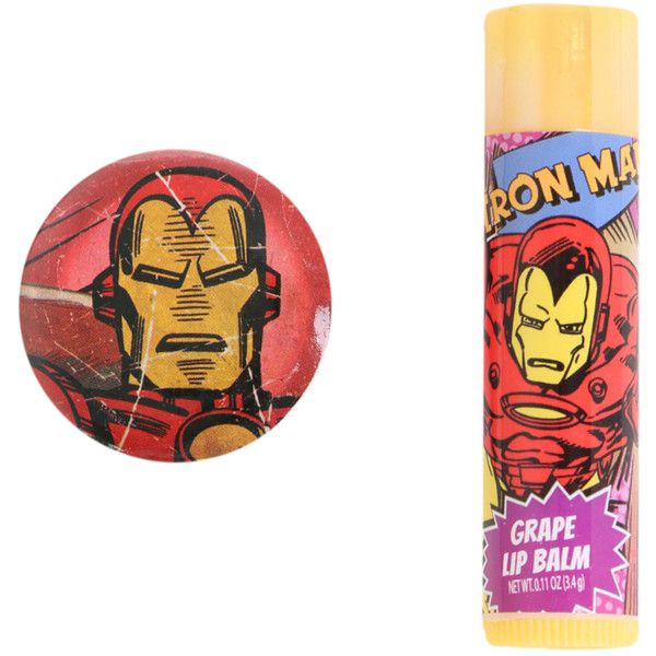 Marvel Iron Man Lip Balm | Hot Topic ($4.50) ❤ liked on Polyvore featuring beauty products, skincare, lip care, lip treatments, makeup and balm