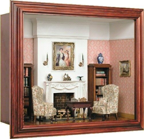 dollhouse miniature roombox sitting room love to craft. Black Bedroom Furniture Sets. Home Design Ideas
