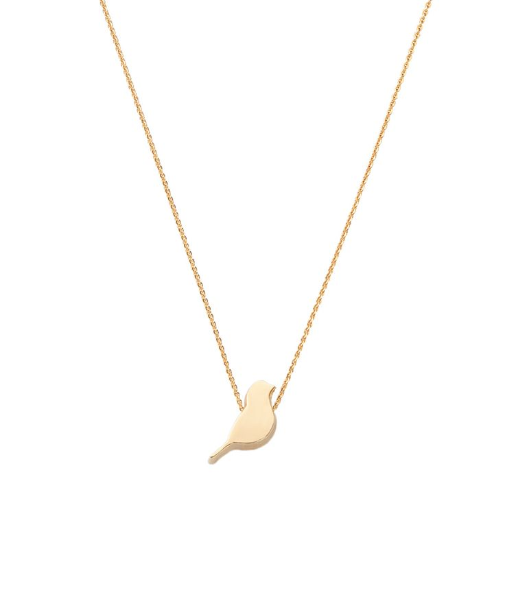 Joy de la Luz initial collier 14K gold | birdy yellowgold