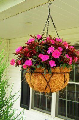 how to make flower hanging baskets