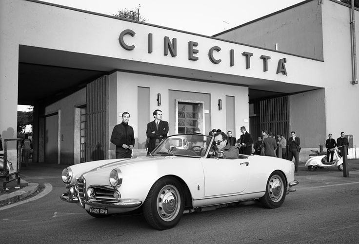 """Ricky Tognazzi and Daniel Day-Lewis, """"Nine"""", Cinecitta, Rome, Italy, 2009"""