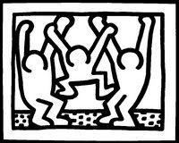 Kleurplaten Keith Haring Kleurplaat
