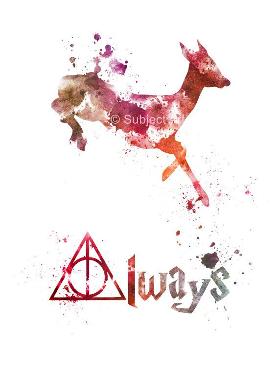 ART PRINT Doe Deer Severus Snape Harry Potter by SubjectArt