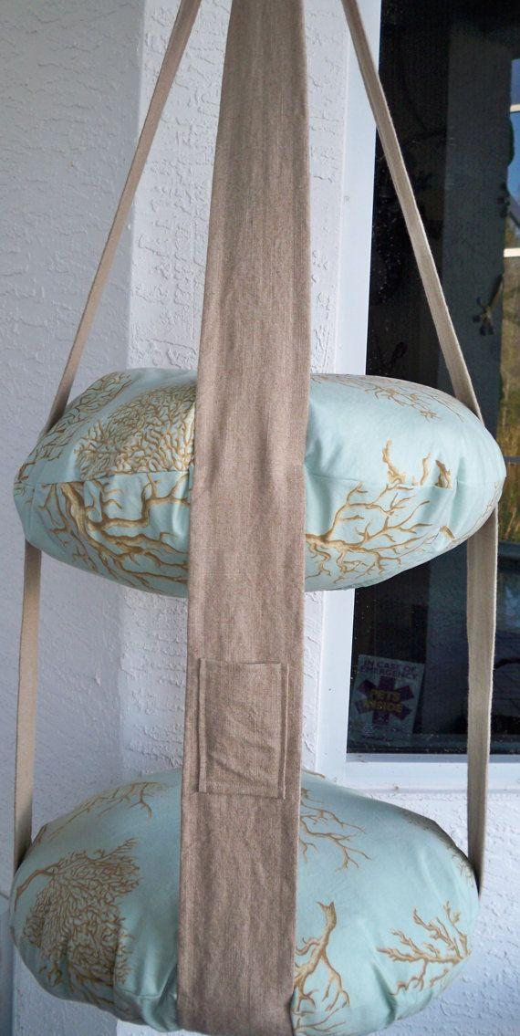 2 Ebene hängende Katze Bett Korallen Print Kitty von 7CatsHeaven