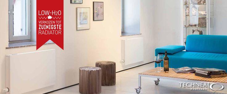 Jaga Strada radiator met energiezuinige werking doordat de verwarming op lage temperatuur werkt.