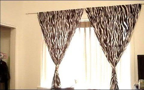 how to hang curtains without making holes in the wall curtain rods hooks and diy curtain rods. Black Bedroom Furniture Sets. Home Design Ideas