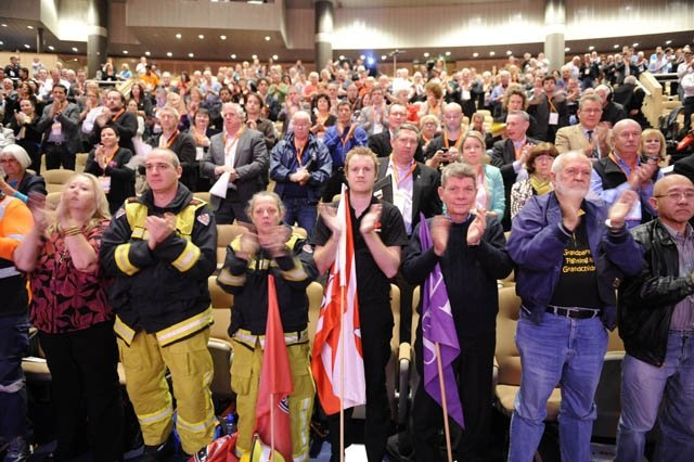 The massive audience at ACTU Congress 2012.