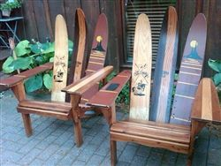 Water Ski Adirondack Chairs! Chillax in style - available at Moss Envy. $375 each.