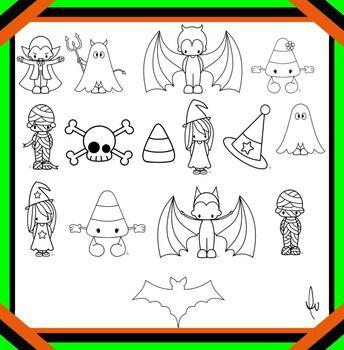halloween line images
