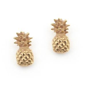 Pineapple Stud Earrings Gold