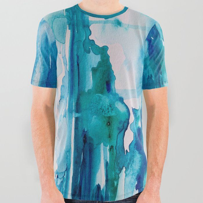 Cabo Beach Mexico Watercolor 2 All Over Graphic Tee By Anoellejay