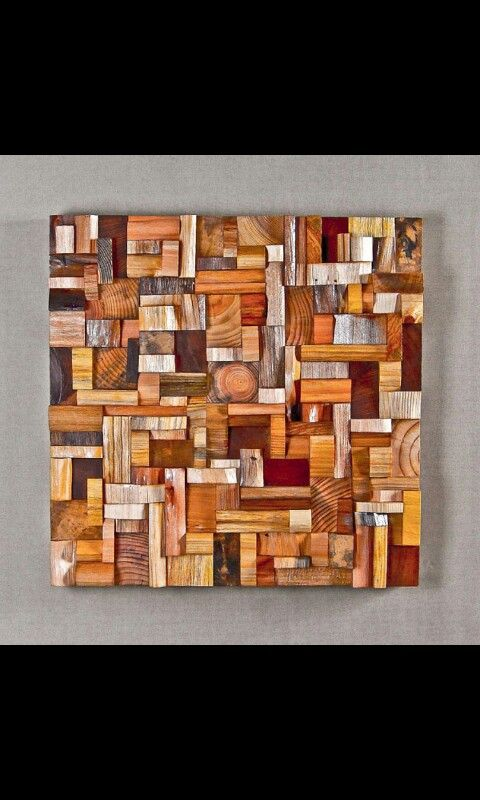 Cuadro con trozos de madera                              …