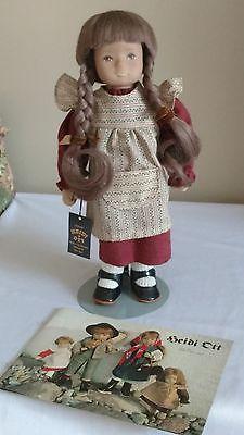 """Vintage Heidi Ott 13"""" Doll """"Christa"""" w/Human Hair Wig."""