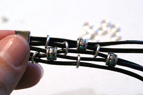 модный браслет из кожаного шнура своими руками