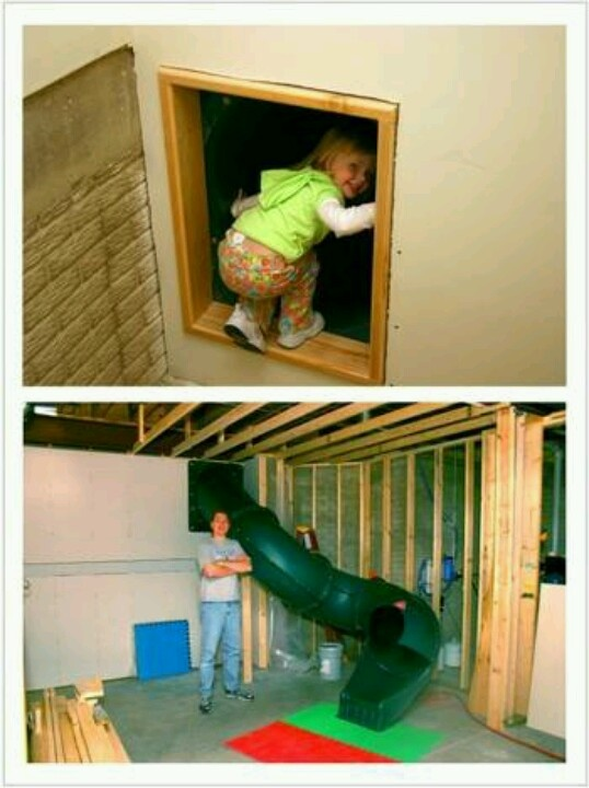 Secret Slide To The Basement Awesome For The Home