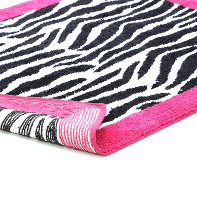 Sweet Jojo Designs Zebra Pink Collection Floor Rug