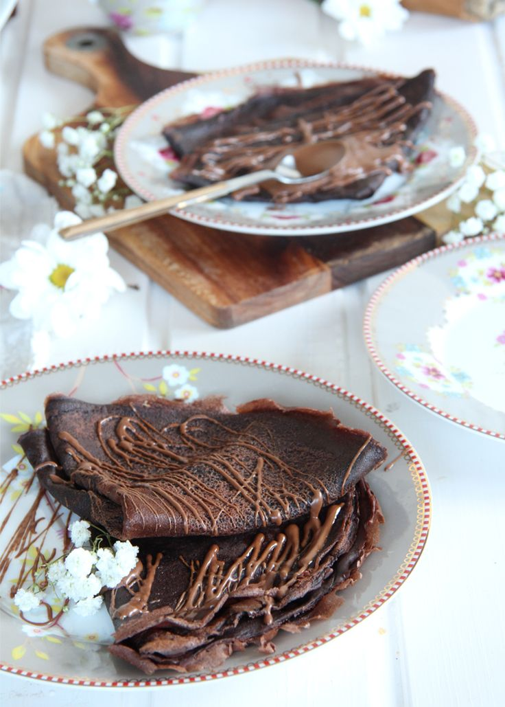 Receta crepes de chocolate
