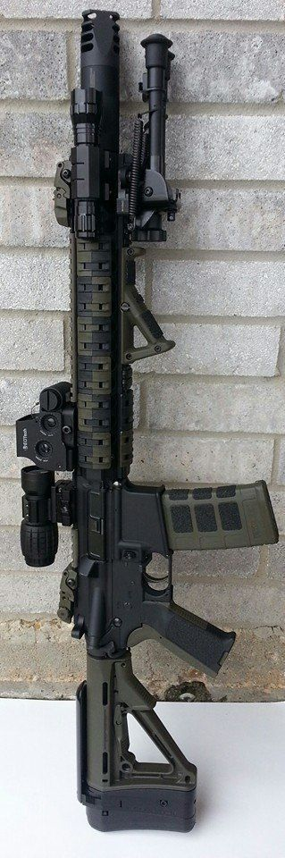 AR-15 w/ EOTech Holographic sight + 3x magnifier