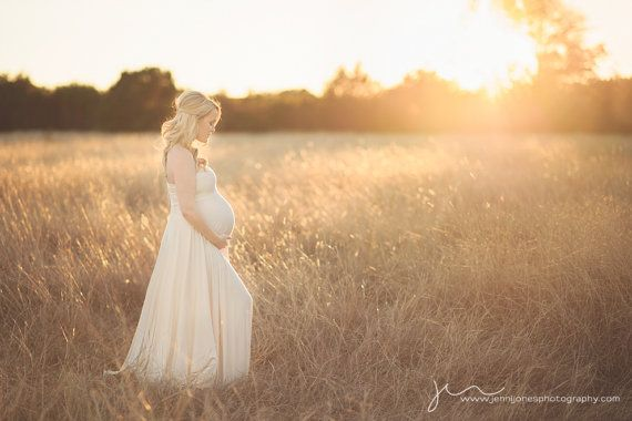 Maternity Maxi Dress. This is perfectly soft and feminine for a rustic shoot.