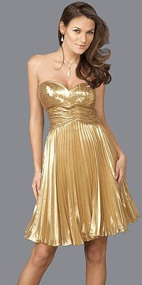 Short And Fun Great For A Nye Wedding Color Gold