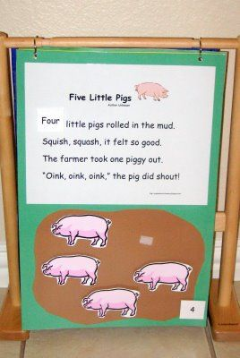 Circle time songs/stories on posterboard with laminated paper pieces.  So simple and cheap!