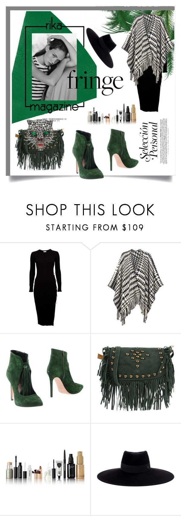 """""""Shimmy Shimmy: Fringe"""" by kari-c ❤ liked on Polyvore featuring Rika, Pooltrend, Anna F., Studio Moda, Maison Michel, Gucci and fringe"""